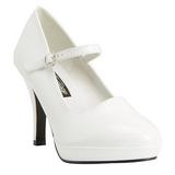 White 10 cm CONTESSA-50 Mary Jane Pumps Shoes