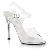 White 11,5 cm FABULICIOUS GALA-08 High Heeled Evening Sandals