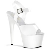 White 18 cm ADORE-708N Platform High Heels Shoes