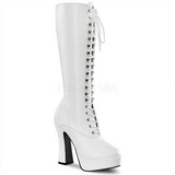 White Matte 13 cm ELECTRA-2020 High Heeled Womens Boots for Men