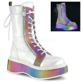 White Patent 5 cm EMILY-350 demonia ankle boots platform