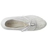 White Satin 13 cm LOLITA-32 High Heeled Evening Pumps Shoes