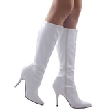 White Shiny 13 cm SEDUCE-2000 High Heeled Womens Boots for Men