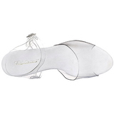 White Transparent 8 cm Pleaser BELLE-308 High Heels