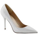 White Varnished 10 cm CLASSIQUE-20 Women Pumps Shoes Stiletto Heels