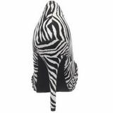 Zebra Muster 12 cm SAFARI-06 Damen Pumps Stiletto Absatz