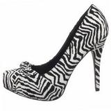 Zebra Pattern 12 cm SAFARI-06 Women Pumps Shoes Stiletto Heels