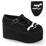 bat canvas 8 cm CLICK-04-2 lolita shoes gothic platform shoes