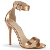 gold rose 13 cm Pleaser AMUSE-10 Sandaletten mit high heels